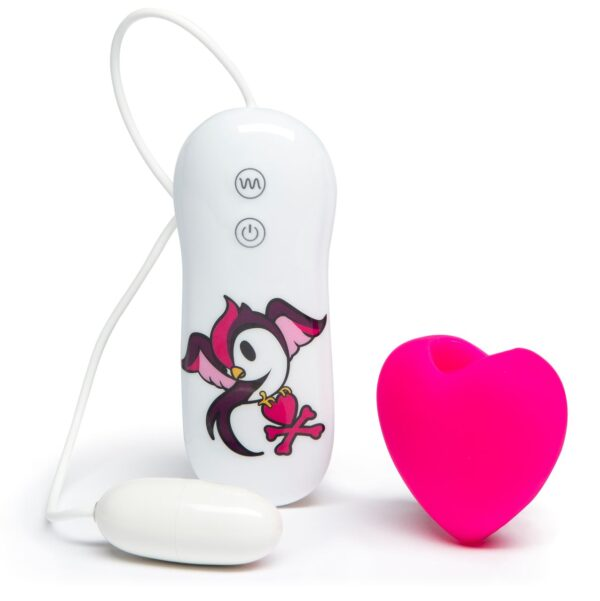 Tokidoki 10 Function Silicone Clitoral Vibrator swoop Pink Heart